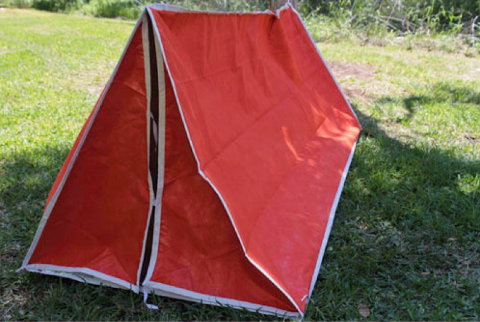 Emergency tube tent for preparedness, emergency and survival situations