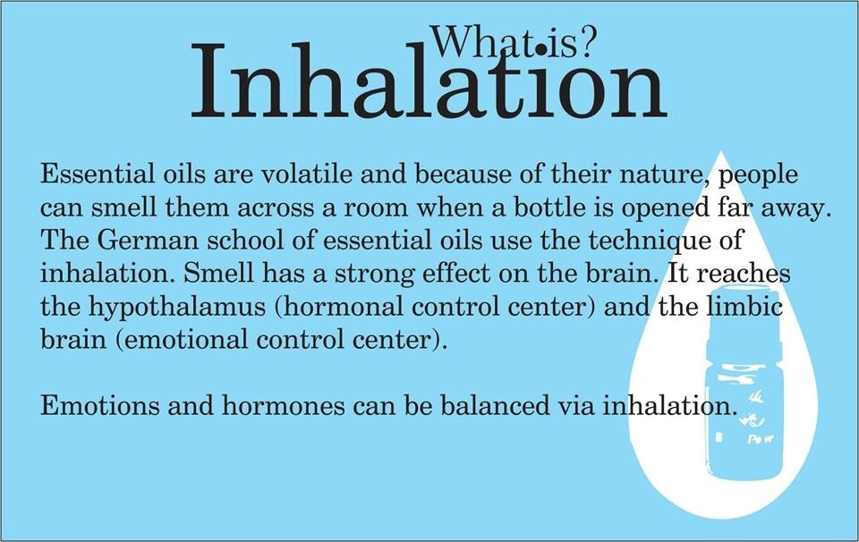 inhalation for healing with essential oils